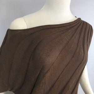 Cache Asymmetrical short sleeve blouse